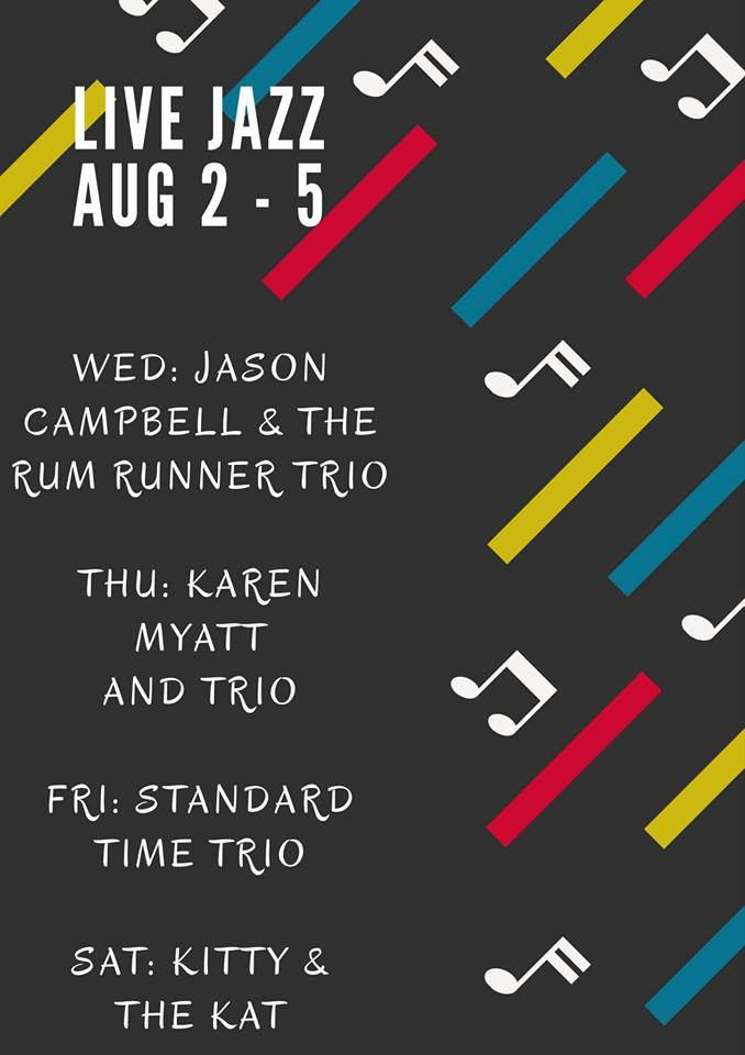 Live Jazz August 2 to 5