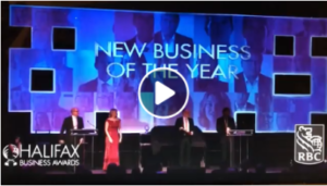 A screen shot of the video for Halifax's 2018 New Business of The Year. Halifax Distillery took the Silver Award